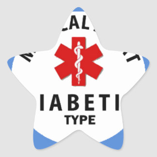 DIABETIES TYPE 1 STAR STICKER