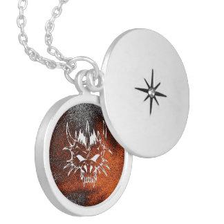 diabolic fire (C) Round Locket Necklace
