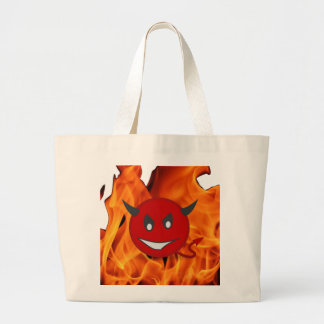 Diabolic smiley large tote bag