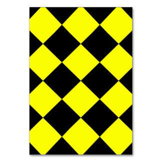 Diag Checkered Large - Black and Yellow Table Cards