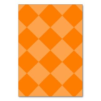 Diag Checkered Large - Orange and Dark Orange Table Card