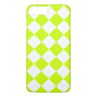 Diag Checkered Large-White and Fluorescent Yellow iPhone 7 Plus Case