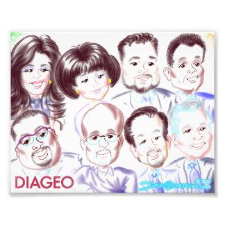 DIAGEO Group Caricature 2017 Photo Print