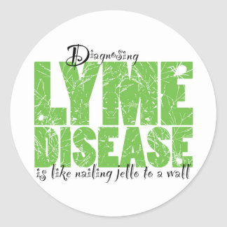 Diagnosing Lyme Disease Round Sticker