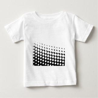 Diagonal B and W Half Tone Baby T-Shirt