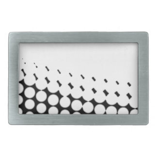 Diagonal B and W Half Tone Belt Buckles