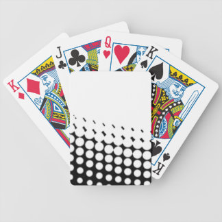 Diagonal B and W Half Tone Bicycle Playing Cards