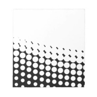 Diagonal B and W Half Tone Notepad