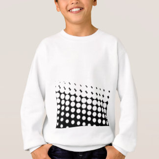 Diagonal B and W Half Tone Sweatshirt