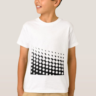 Diagonal B and W Half Tone T-Shirt