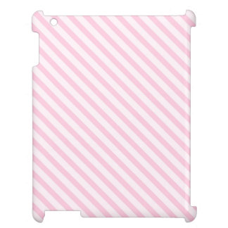 Diagonal Blossom Pink Stripes Cover For The iPad