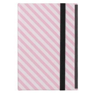 Diagonal Blossom Pink Stripes iPad Mini Cases