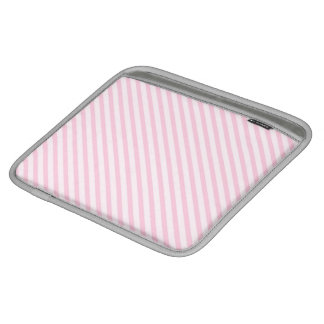 Diagonal Blossom Pink Stripes iPad Sleeve