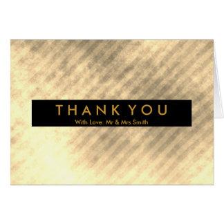 Diagonal Blue and Pink Stripe Modern Thank You Card
