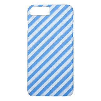 Diagonal Blue Striped iPhone 8 Plus/7 Plus Case