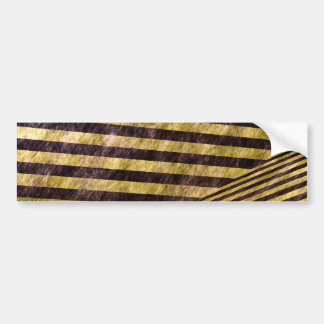 Diagonal Chevron Stripes Design Car Bumper Sticker