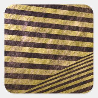 Diagonal Chevron Stripes Design Square Sticker