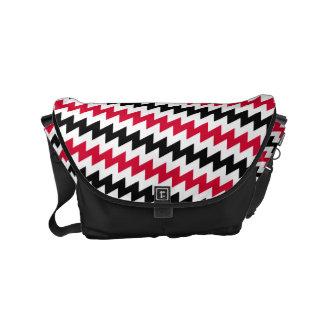 Diagonal chevron stripes messenger bag