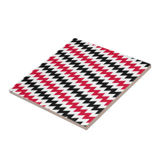 Diagonal chevron stripes tile