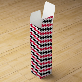 Diagonal chevron stripes wine box