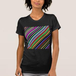 Diagonal Color Stripes T-Shirt