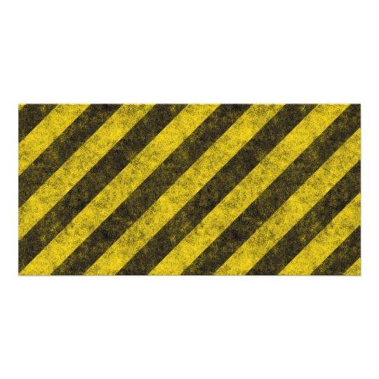 Diagonal Construction Hazard Stripes Card