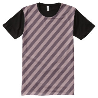 Diagonal Dark Pink Stripes All-Over-Print T-Shirt