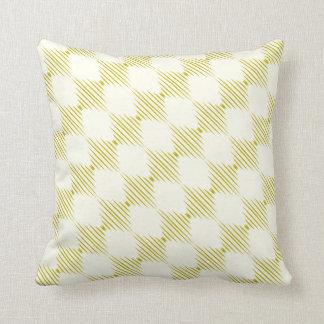Diagonal Diamond Chartreuse Ivory Design Pillow