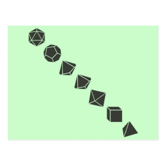 Diagonal Dice (Dark) Postcard