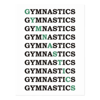 Diagonal Gymnastics Postcard