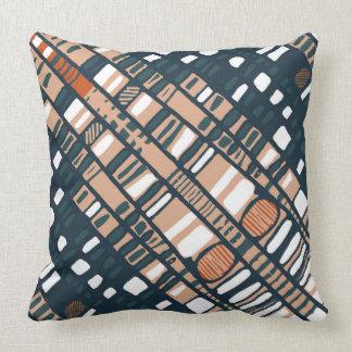 Diagonal layers terracotta throw pillow