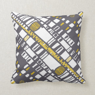 Diagonal layers yellow throw pillow