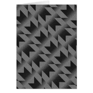 Diagonal M pattern Card
