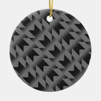 Diagonal M pattern Ceramic Ornament