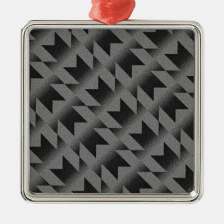 Diagonal M pattern Metal Ornament