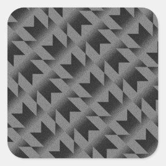 Diagonal M pattern Square Sticker