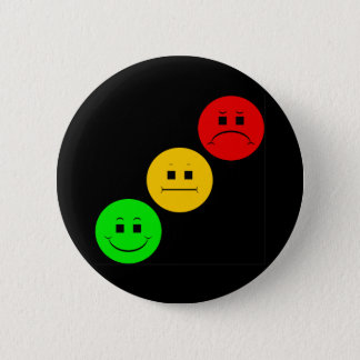 Diagonal Moody Stoplight Sans Stripe 2 Inch Round Button