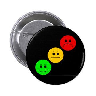 Diagonal Moody Stoplight Sans Stripe 2 Inch Round Button