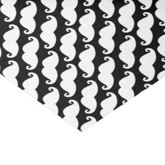 Diagonal Mustache Pattern White and Black Tissue Paper