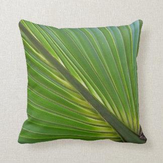 Diagonal Palm Leaf Pilllow Throw Pillow