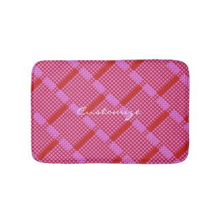 diagonal pink polka dots Thunder_Cove Bath Mat
