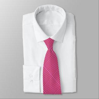 diagonal pink polka dots Thunder_Cove Tie