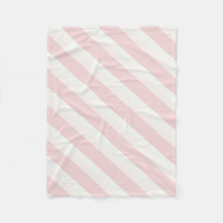 Diagonal Pink Stripe Fleece Blanket