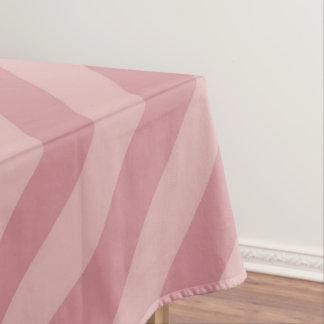 Diagonal Pink Stripes Tablecloth