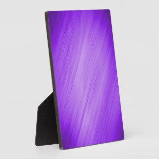 Diagonal Purple Background Plaque