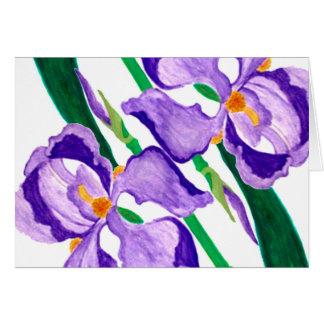 Diagonal Purple Iris Greeting Card