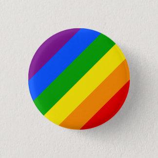 """""""DIAGONAL RAINBOW"""" 1.25-inch 1 Inch Round Button"""