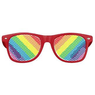 diagonal rainbow retro sunglasses