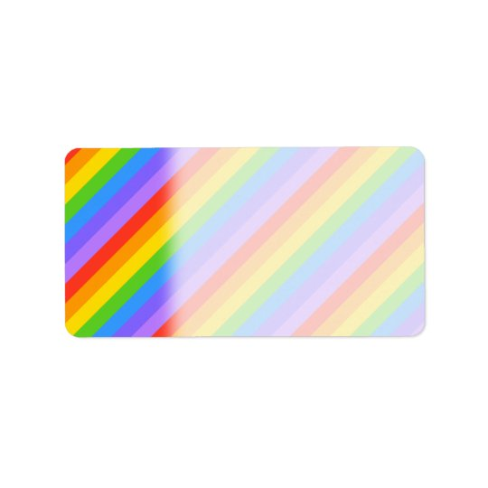 Diagonal Rainbow Stripes Pattern.