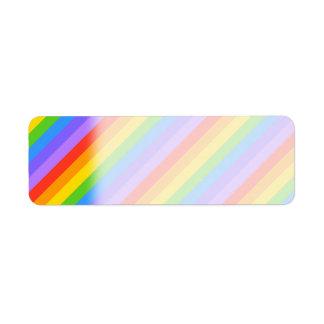 Diagonal Rainbow Stripes Pattern.